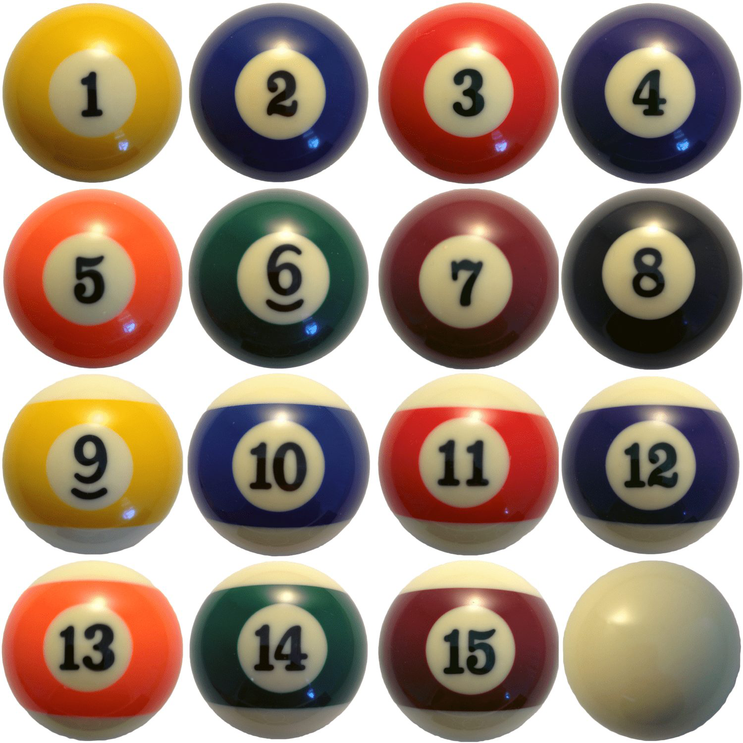 Charmant 2 1/4u2033 Classic Pool Ball Set