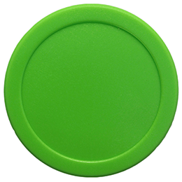 Small Dynamo Green Air Hockey Puck