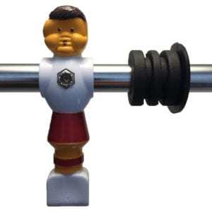 red classic foosball player