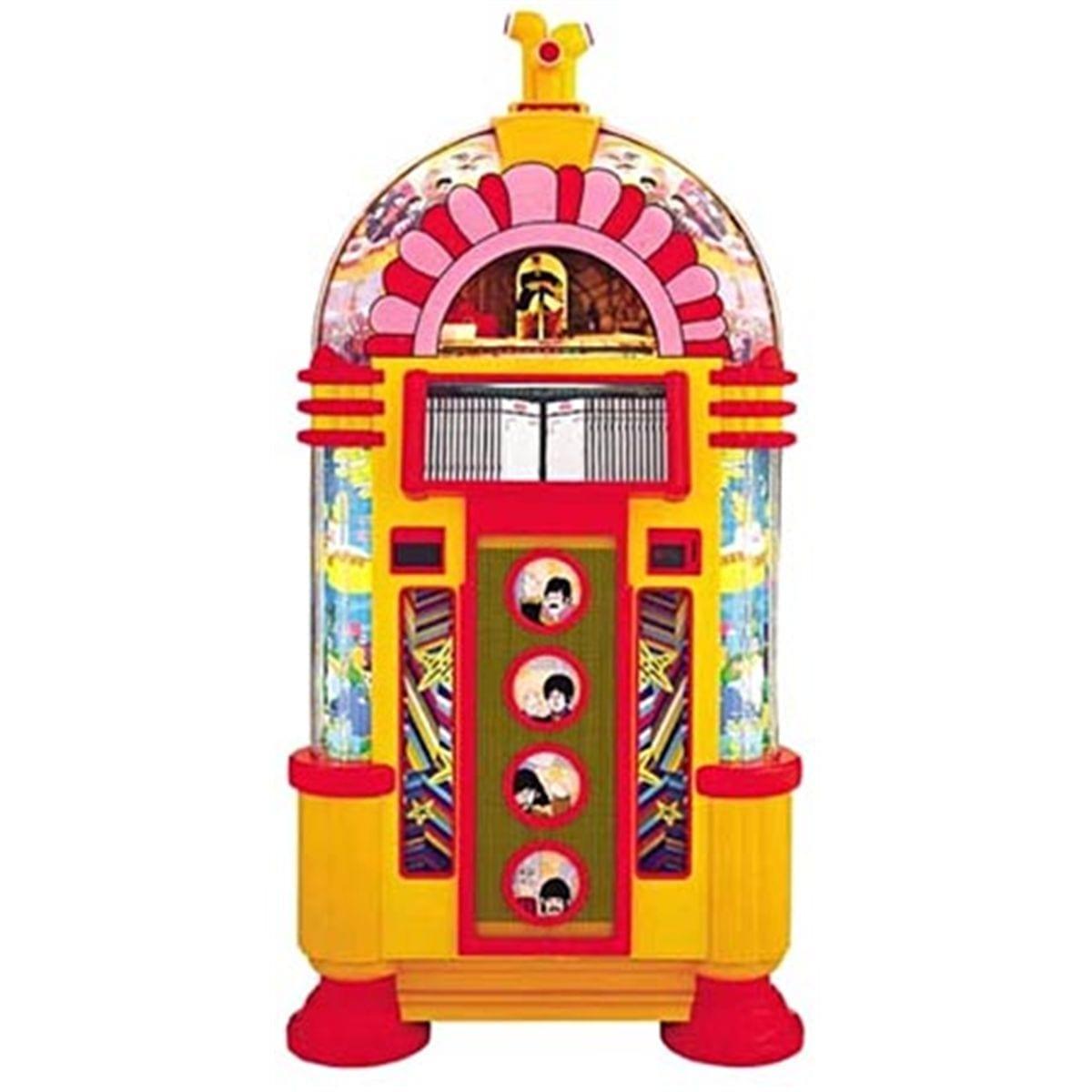 Rock Ola Beatles Yellow Submarine Cd Jukebox Games For Fun