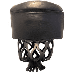 Black Shield Leather Pool Table Pocket