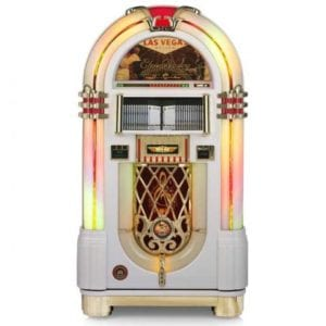 Rock-Ola Gloss White Music Center Jukebox