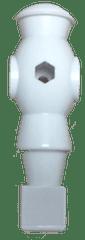 White-robot-foosball-player