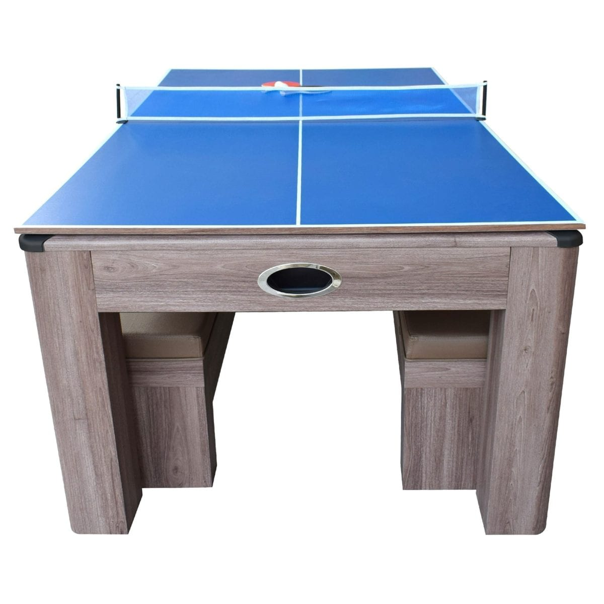 Air Hockey And Table Tennis Combo Game Table With Benches